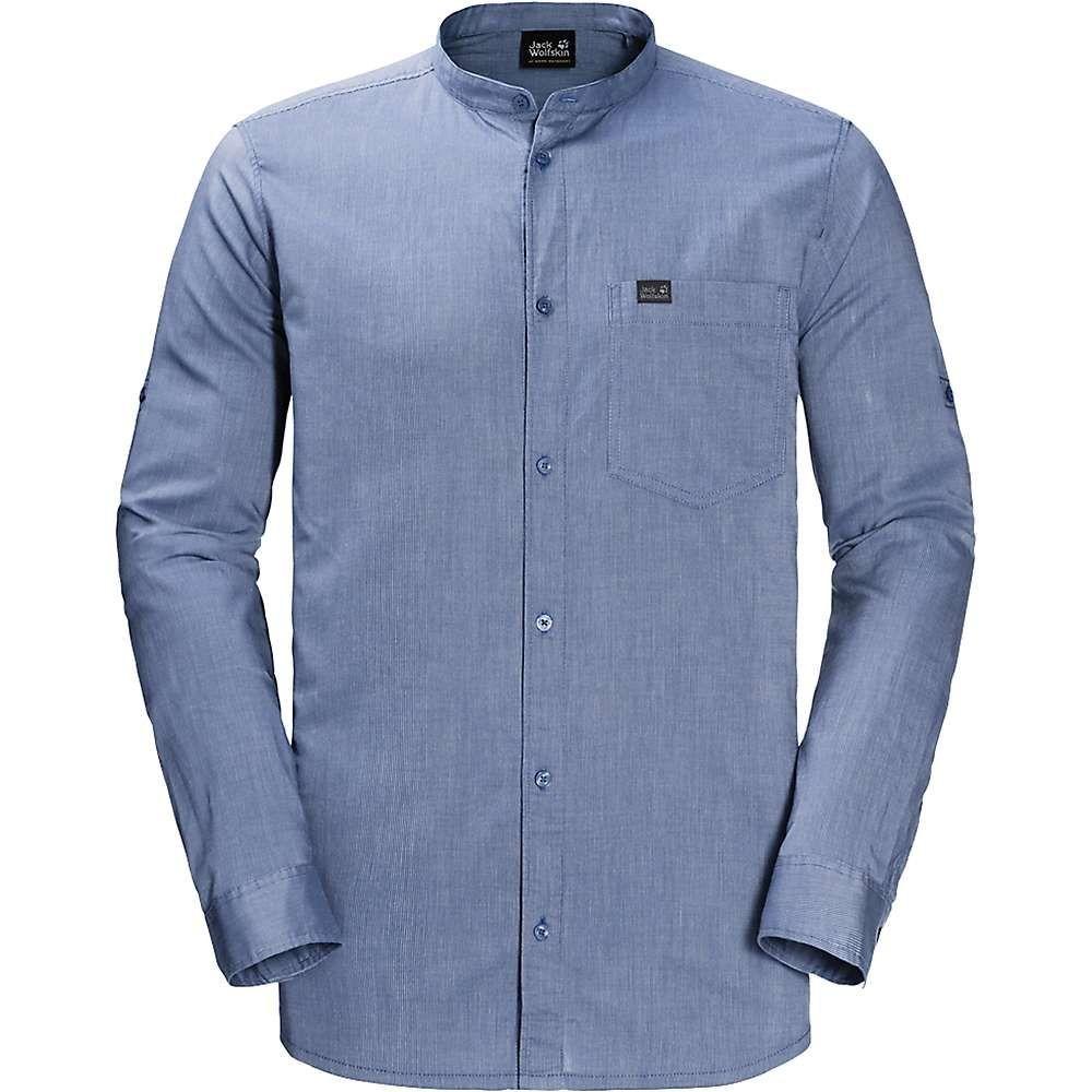 7ae3997e4d09f 詳しくは ジャックウルフスキン メンズ トップス シャツ Dusk Blue Stripes  サイズ交換無料  ジャックウルフ ...