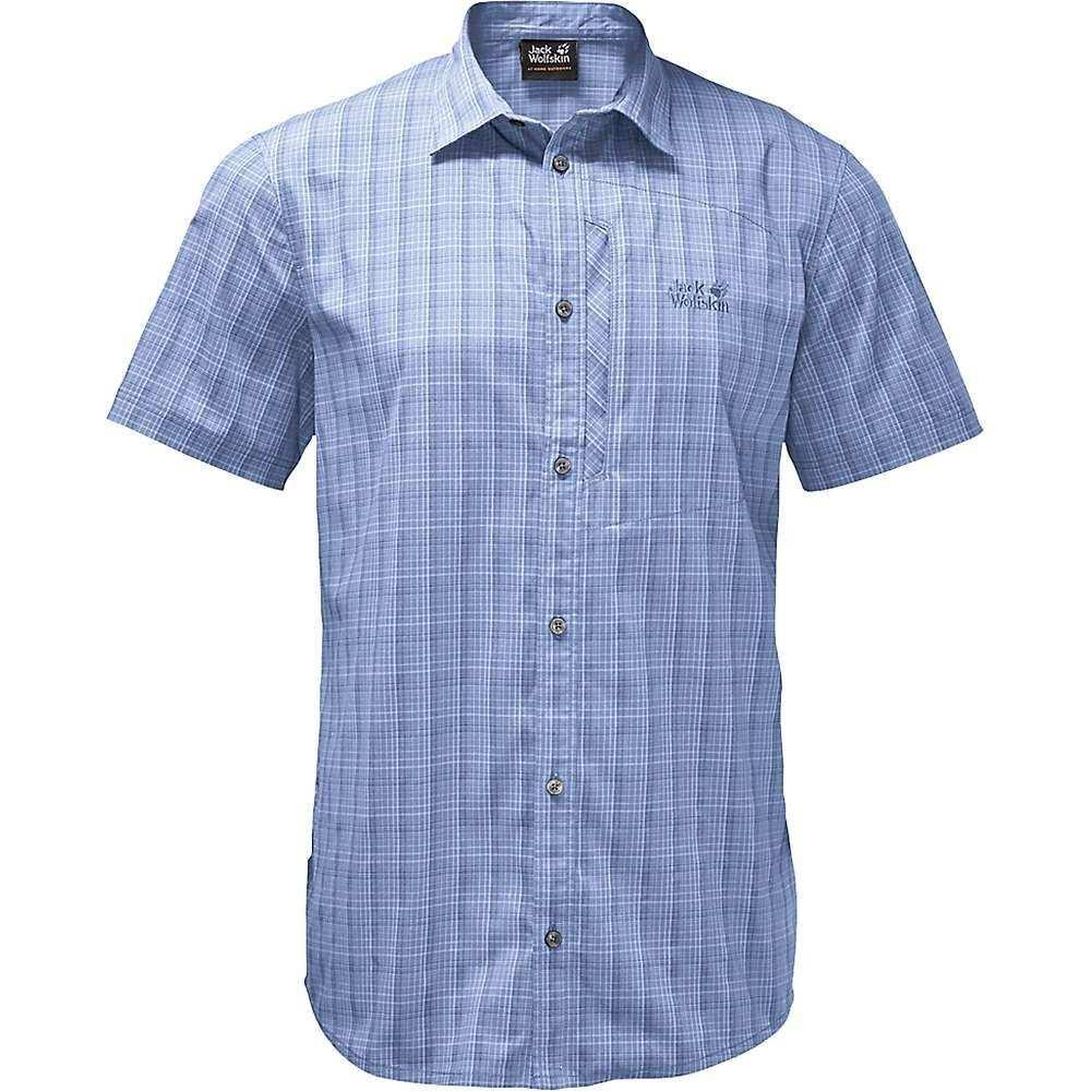 ジャックウルフスキン Jack Wolfskin メンズ ハイキング・登山 トップス【Rays Stretch Vent Shirt】Shirt Blue Checks
