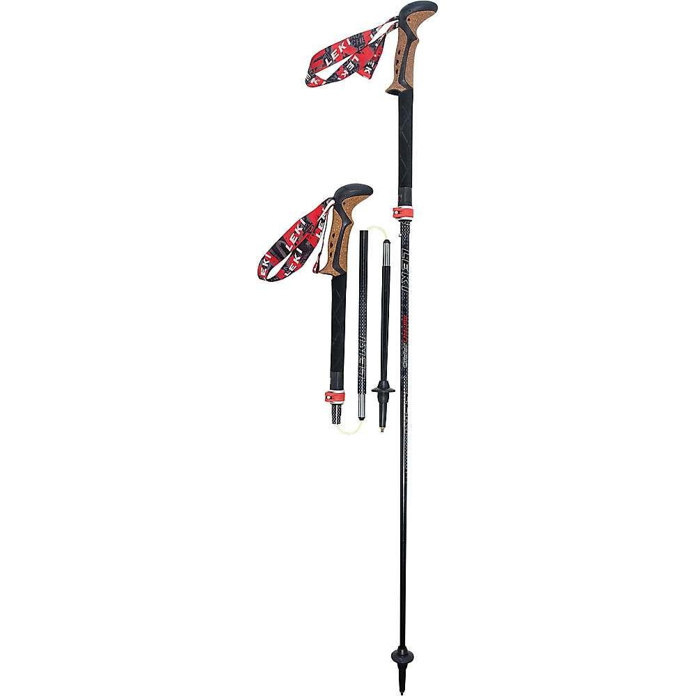 レキ Leki メンズ ハイキング・登山【Micro Vario Ti COR-TEC Trekking Poles】Black/Red