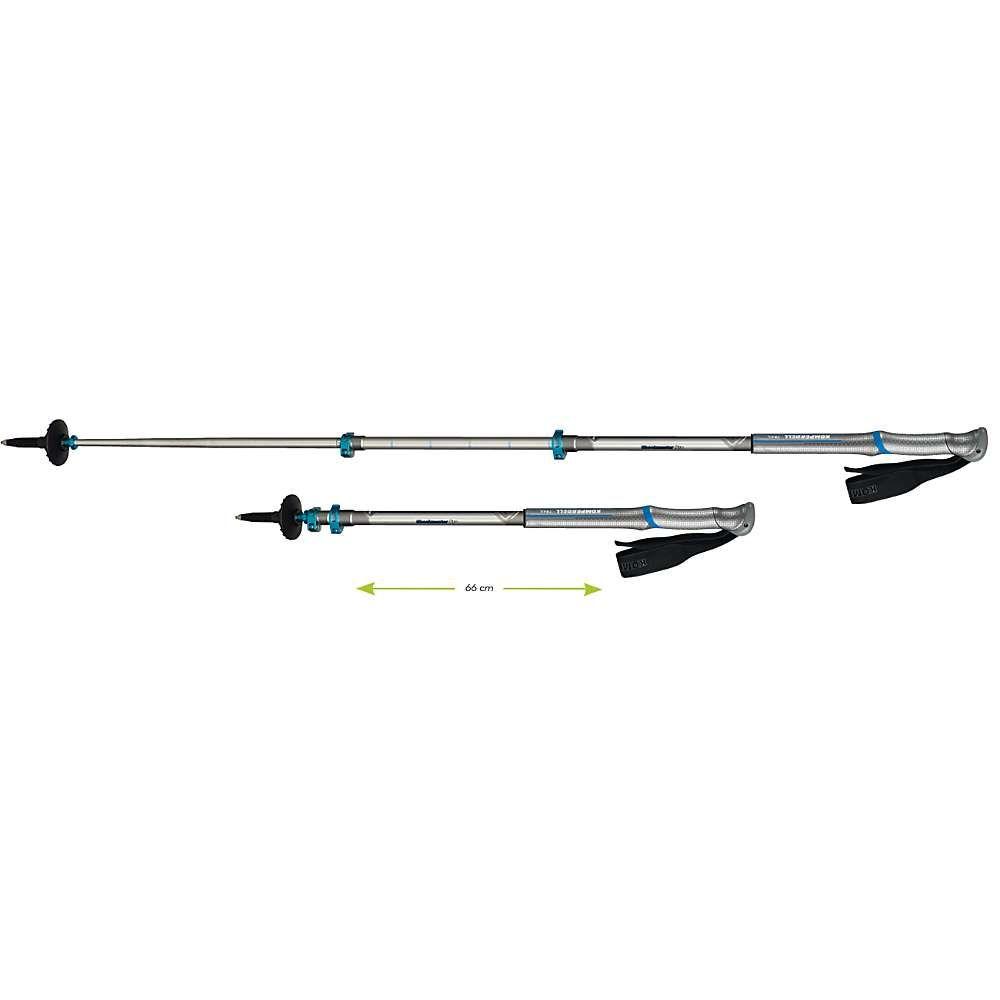 コンパーデル Komperdell メンズ ハイキング・登山【C3 Carbon Pro Compact Trekking Pole】Silver/Blue