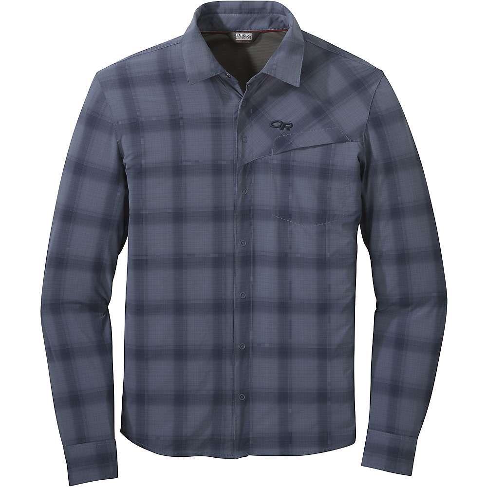 アウトドアリサーチ Outdoor Research メンズ ハイキング・登山 トップス【Astroman LS Sun Shirt】Steel Blue