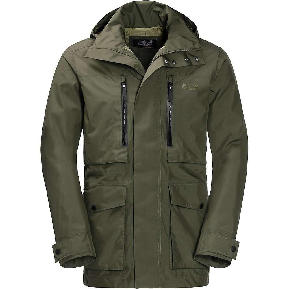 Jack メンズ Green Jacket】Woodland Wolfskin スキー・スノーボード ジャックウルフスキン アウター【Bridgeport