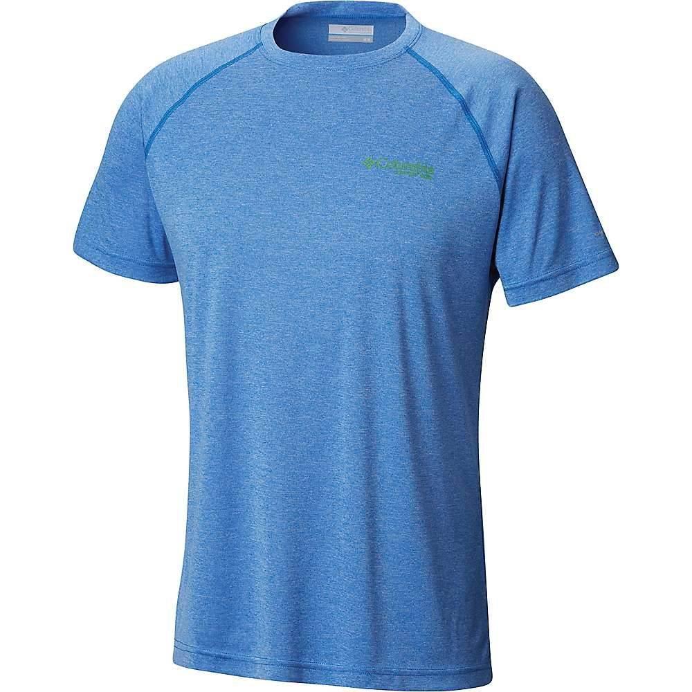 大割引 コロンビア Columbia メンズ ハイキング Heather・登山 Logo メンズ トップス【Terminal Tackle Heather SS Shirt】Vivid Blue Heather/Clean Green Logo, 匝瑳郡:269b54ed --- bibliahebraica.com.br