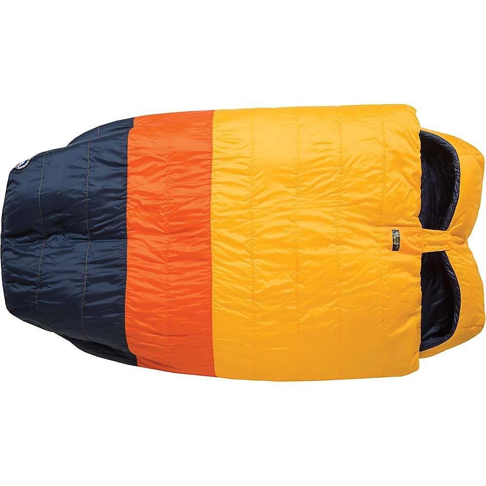 ビッグアグネス Big Agnes ユニセックス ハイキング・登山【Big Creek 30 Degree Sleeping Bag】Yellow/Orange/Navy