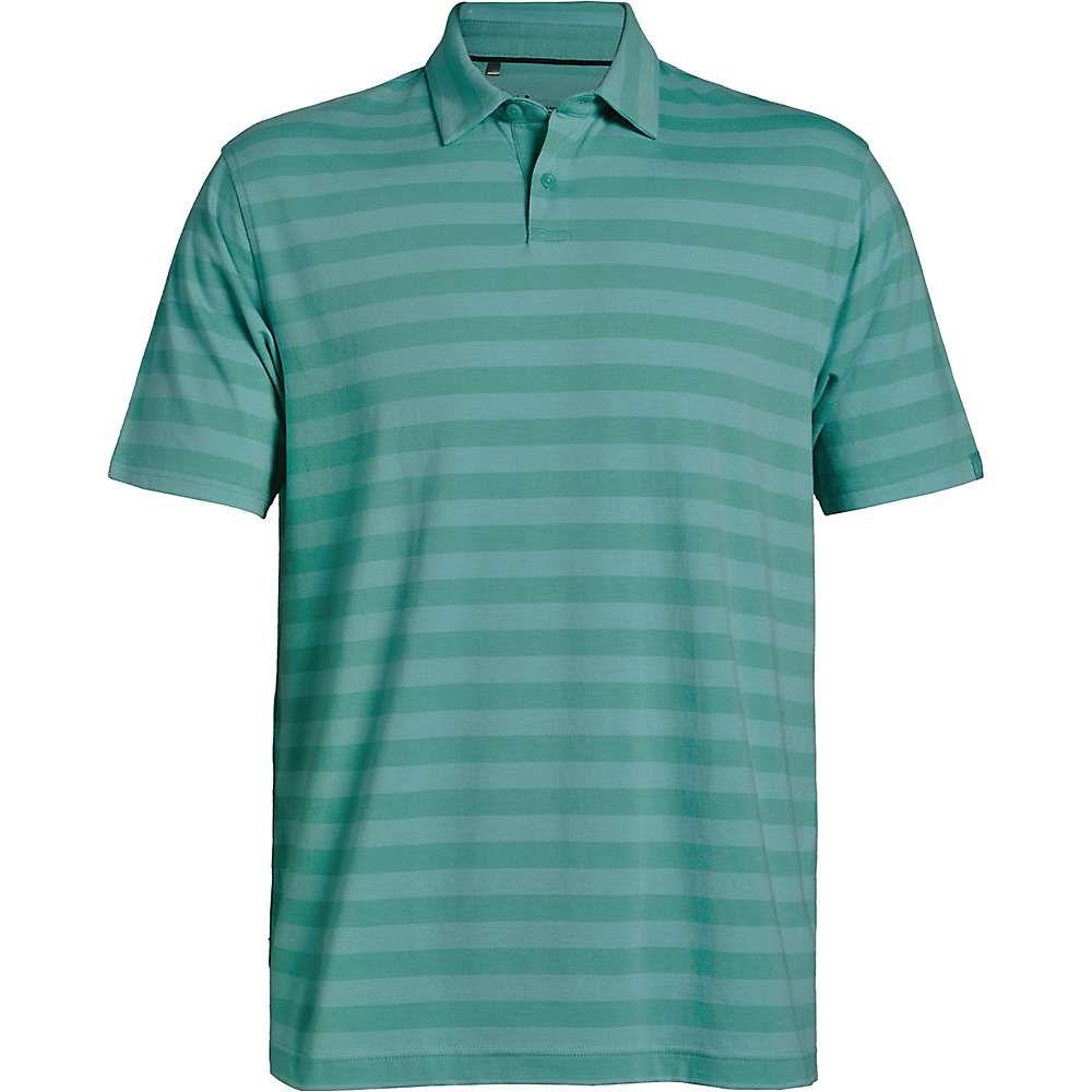 アンダーアーマー Under Armour メンズ ハイキング・登山 トップス【CC Scramble Stripe Polo】Azure Teal/Neo Turquoise/Azure Teal