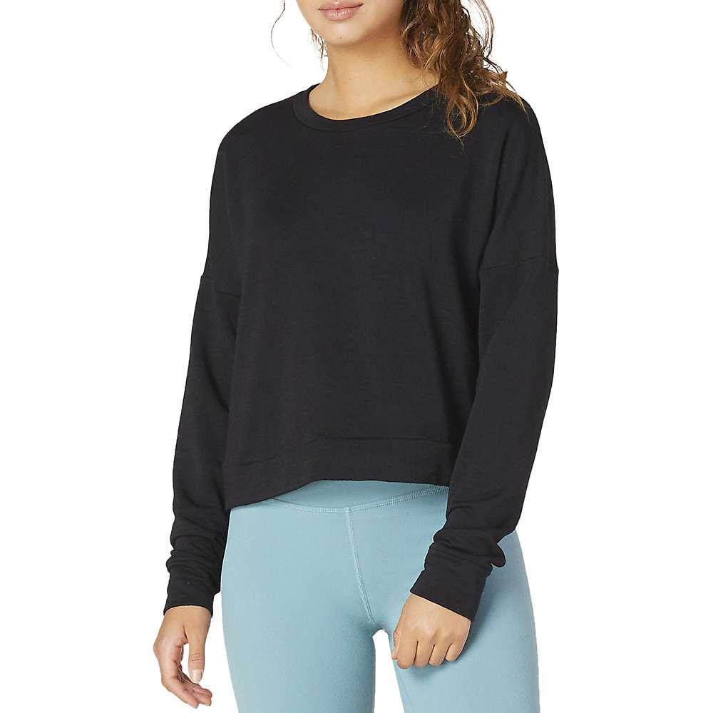 ビヨンドヨガ Beyond Yoga レディース ヨガ・ピラティス トップス【Color Streak Cropped Pullover】Black