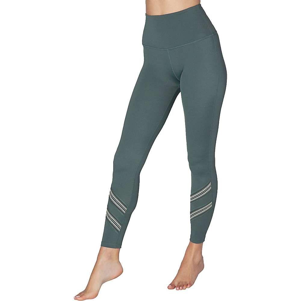 ビヨンドヨガ Beyond Yoga レディース ヨガ・ピラティス ボトムス・パンツ【Compression Stripe Hype High Waisted Midi Legging】Dark Topic