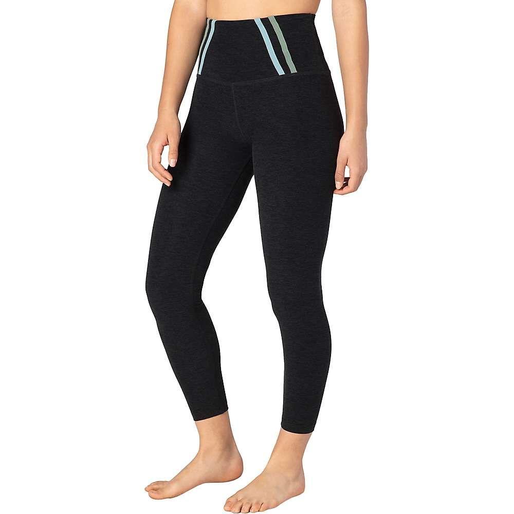 ビヨンドヨガ Beyond Yoga レディース ヨガ・ピラティス ボトムス・パンツ【Stripe Down High Waisted Midi Legging】Darkest Night