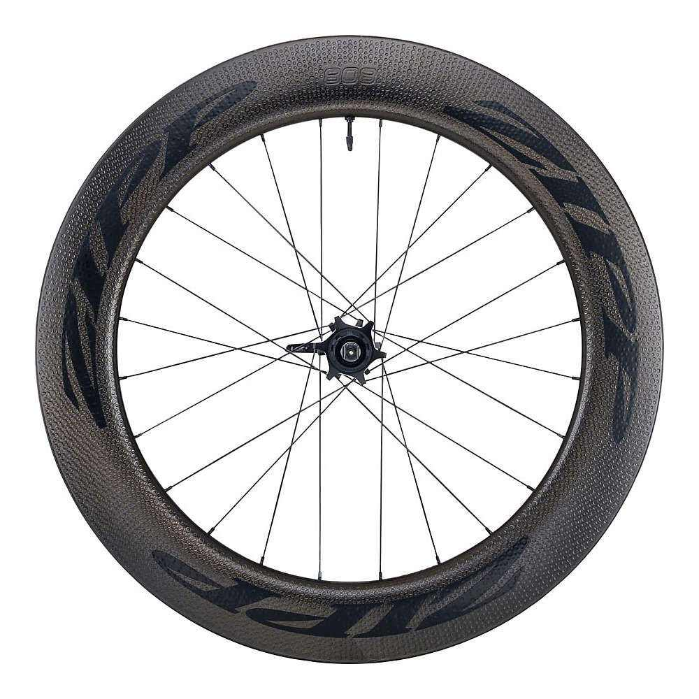 ジップ Zipp ユニセックス 自転車【808 Firecrest Carbon Clincher Disc Brake Road Wheel - Tubeless】Black/Rear