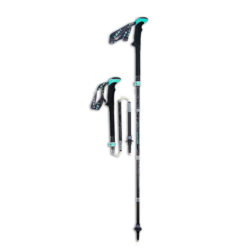 レキ Leki レディース ハイキング・登山【Micro Vario Carbon Lady DSS Trekking Poles】Grey/Aqua