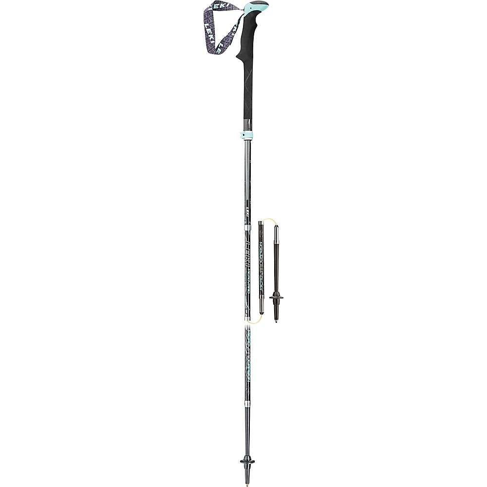 レキ Leki レディース ハイキング・登山【Micro Vario Carbon Trekking Poles】Black/Aqua