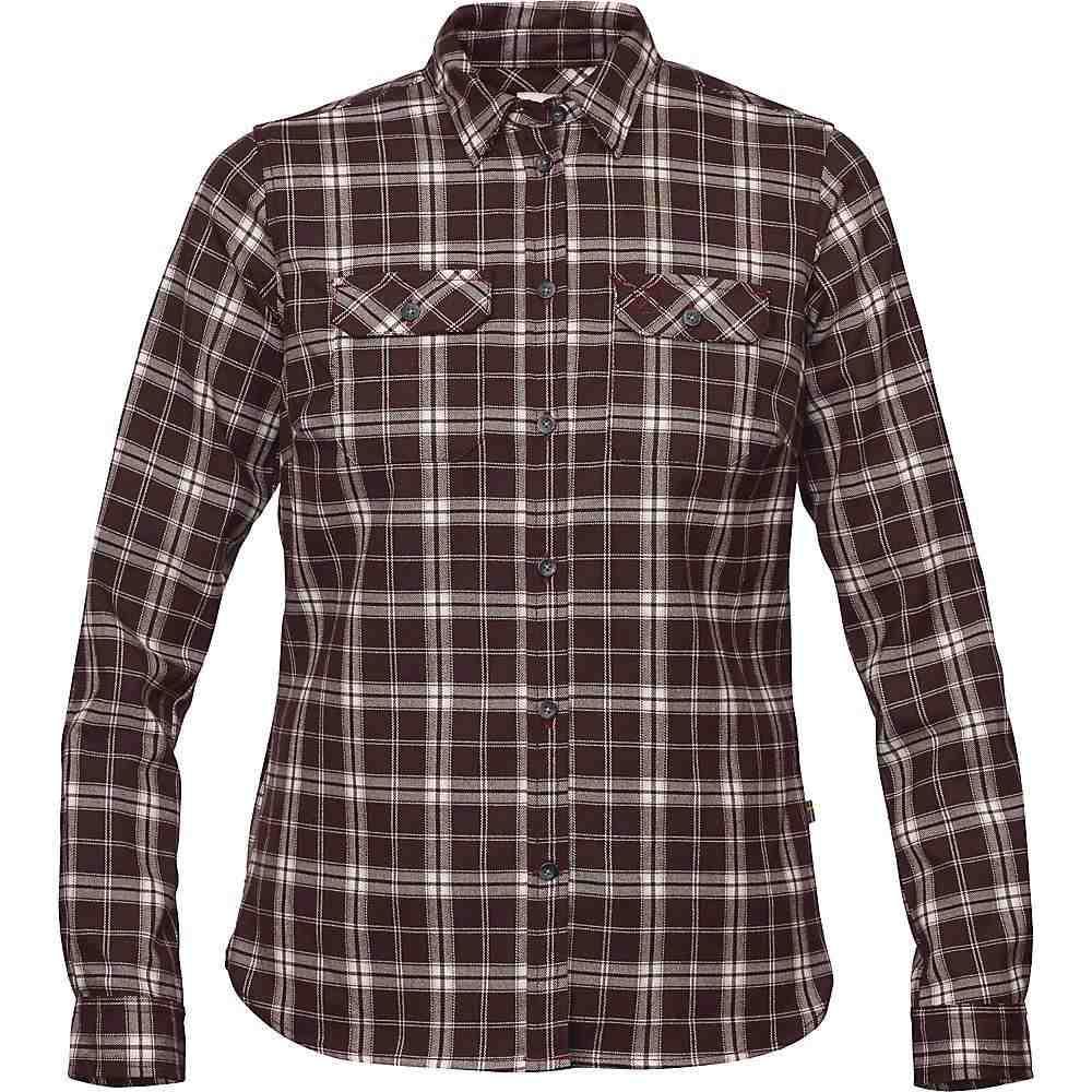 フェールラーベン Fjallraven レディース ハイキング・登山 トップス【Fjallglim Stretch LS Shirt】Dark Garnet