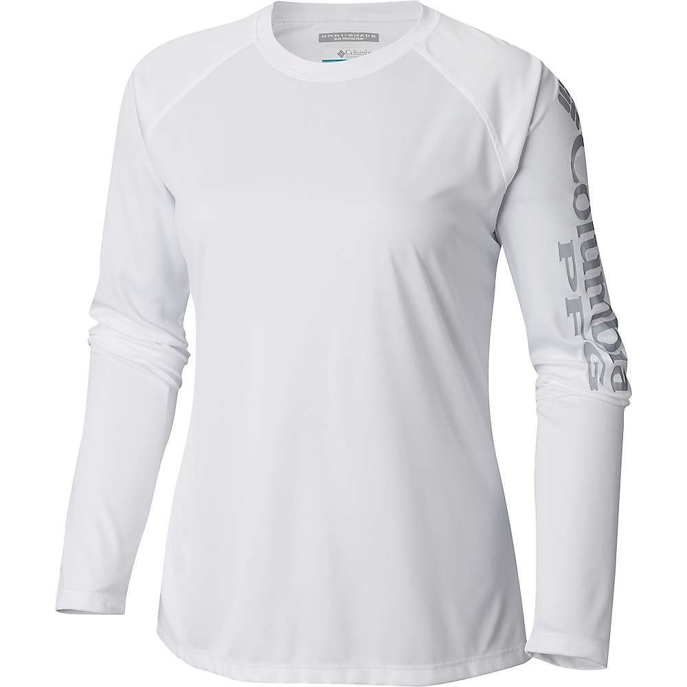 激安特価 コロンビア Grey Columbia II レディース ハイキング・登山 トップス【Tidal II Columbia LS Tee】White/Cool Grey Logo, richic(ジュエリー):4172650e --- canoncity.azurewebsites.net