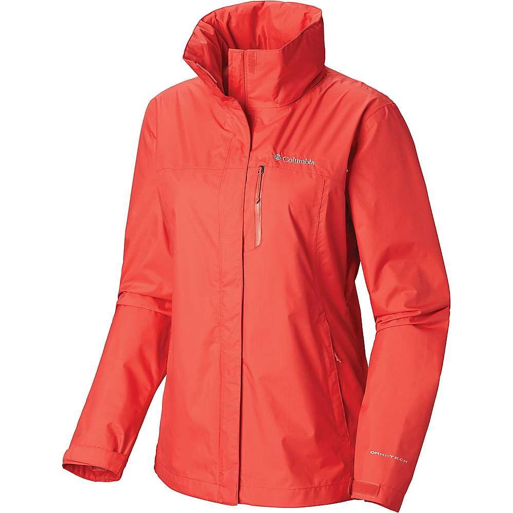 コロンビア Columbia レディース アウター レインコート【Pouration Jacket】Red Coral