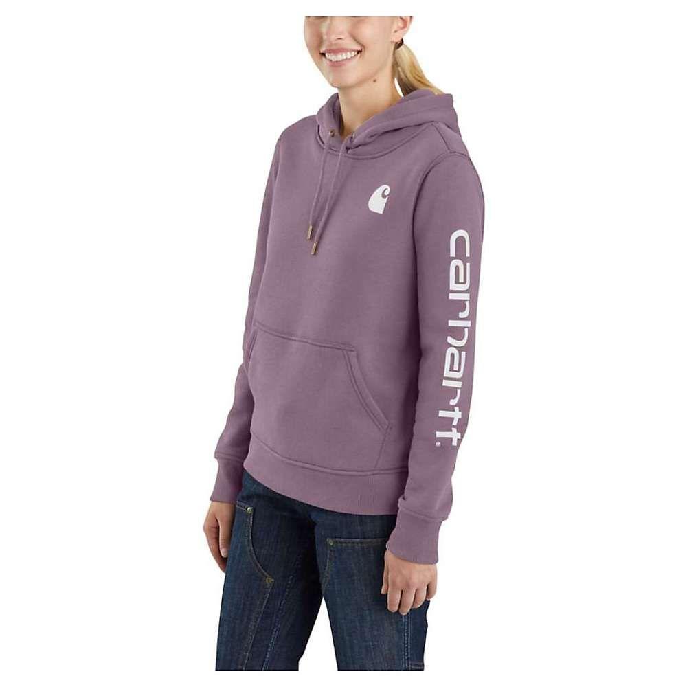 カーハート Carhartt レディース ハイキング・登山 トップス【Clarksburg Graphic Sleeve Pullover Sweatshirt】Lavender Shadow