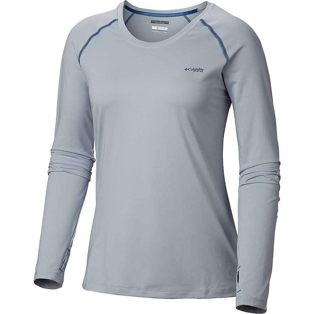 コロンビア Columbia レディース ハイキング・登山 トップス【Tamiami Heather Knit LS Shirt】Cirrus Grey/Impulse Blue