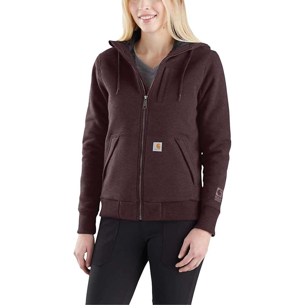 カーハート Carhartt レディース ハイキング・登山 トップス【Rain Defender Rockland Quilt-Lined Full-Zip Hooded Sweatshirt】Fudge Heather