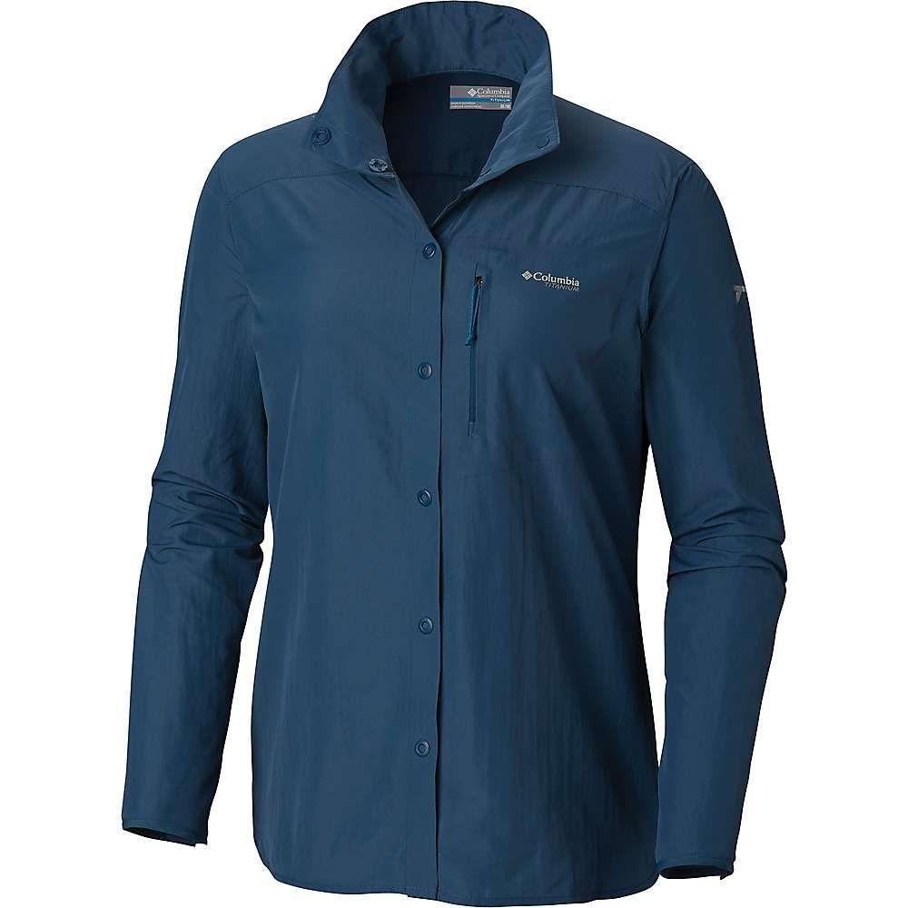 コロンビア Columbia レディース ハイキング・登山 トップス【Featherweight Hike II LS Shirt】Petrol Blue