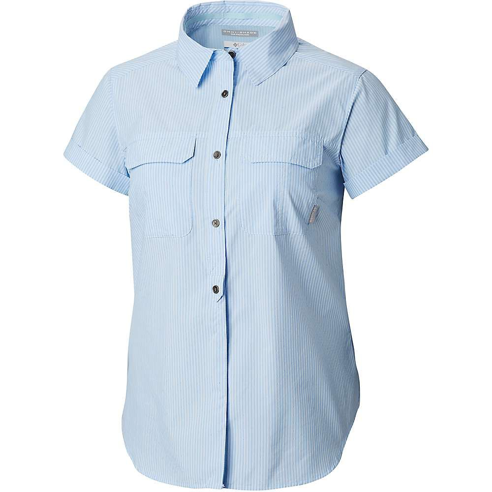 コロンビア Columbia レディース ハイキング・登山 トップス【Pilsner Peak Novelty SS Shirt】Pale Blue Stripe