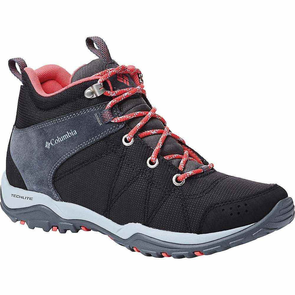 コロンビア Columbia Footwear レディース ハイキング・登山 シューズ・靴【Columbia Fire Venture Mid Textile Shoe】Black/Red Coral
