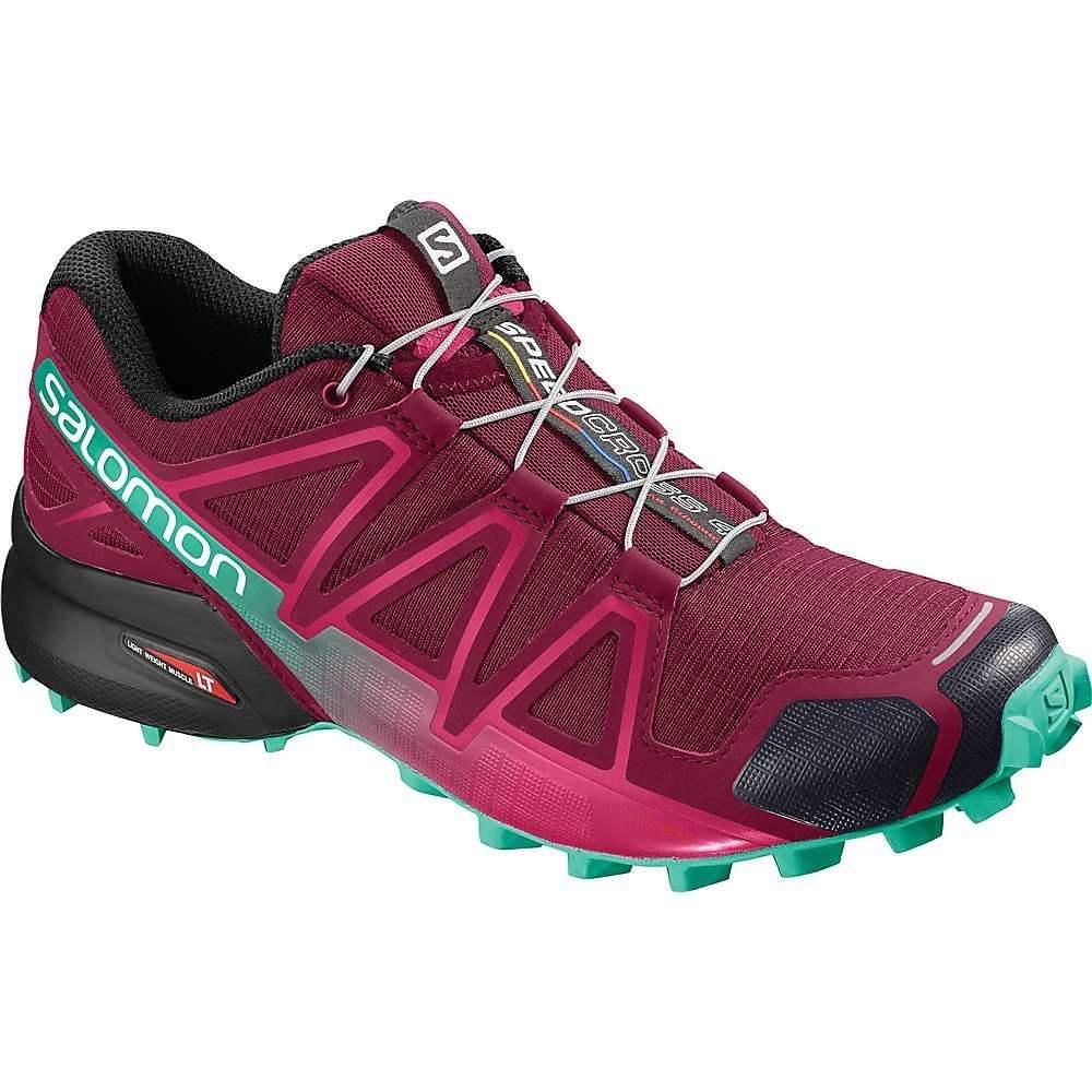 サロモン Salomon レディース ランニング・ウォーキング シューズ・靴【Speedcross 4 Shoe】Beet Red/Electric Green/Black