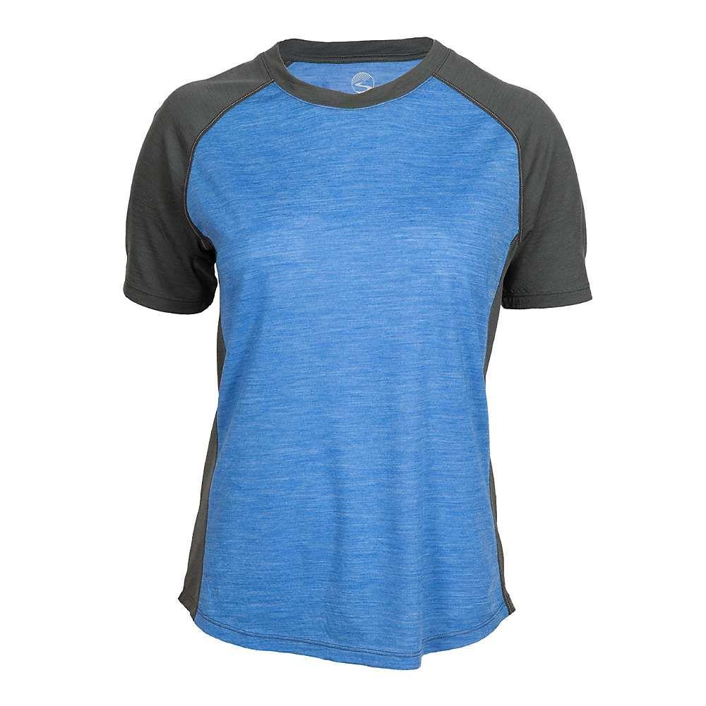 シャワーズ パス Showers Pass レディース 自転車 トップス【Apex Merino Tech T-Shirt】Strong Blue