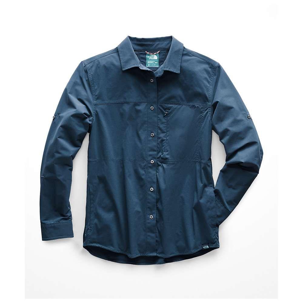 ザ ノースフェイス The North Face レディース ハイキング・登山 トップス【Boreaz LS Roll-Up Shirt】Blue Wing Teal