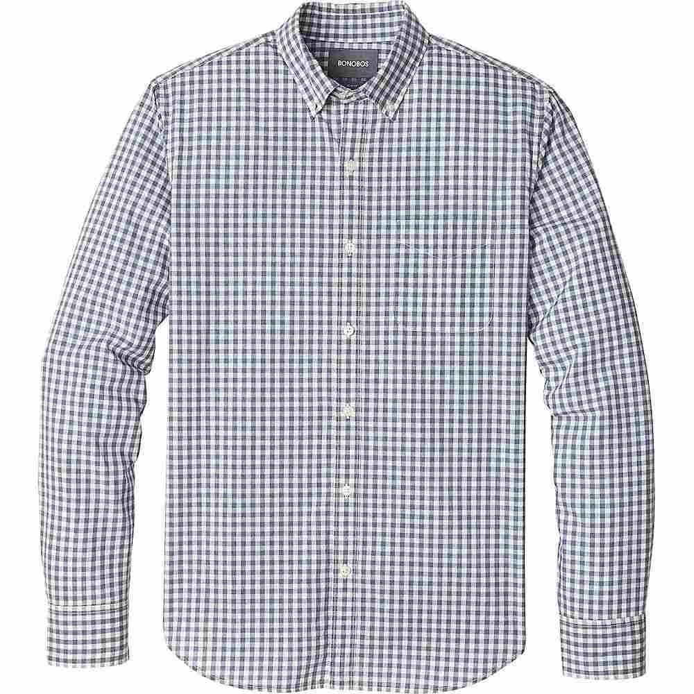 ボノボス Bonobos メンズ トップス 半袖シャツ【Summer Weight Shirt Slim】Timber Gingham - Heather Navy