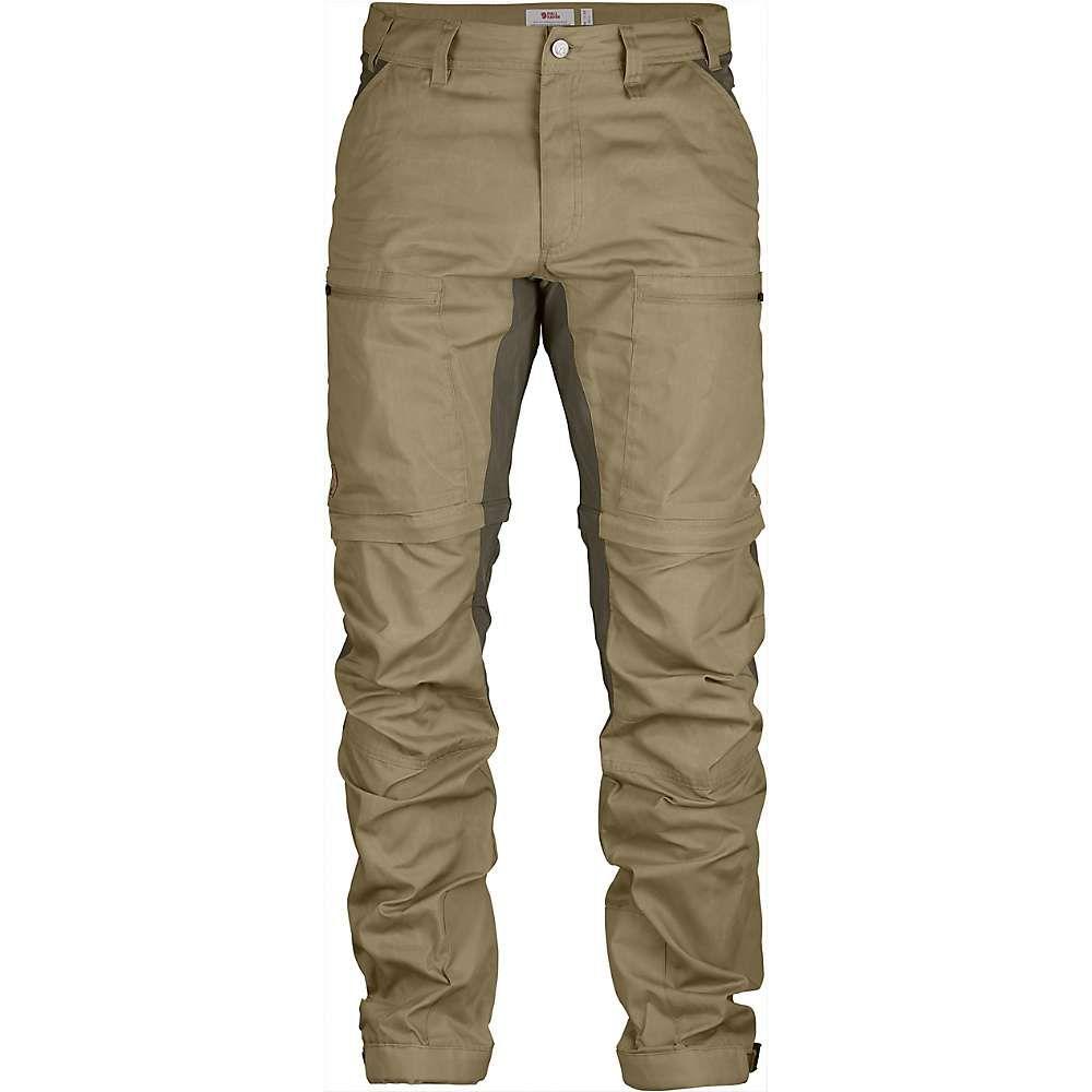 フェールラーベン Fjallraven メンズ ハイキング・登山 ボトムス・パンツ【Abisko Lite Trekking Zip-Off Trouser】Sand / Tarmac