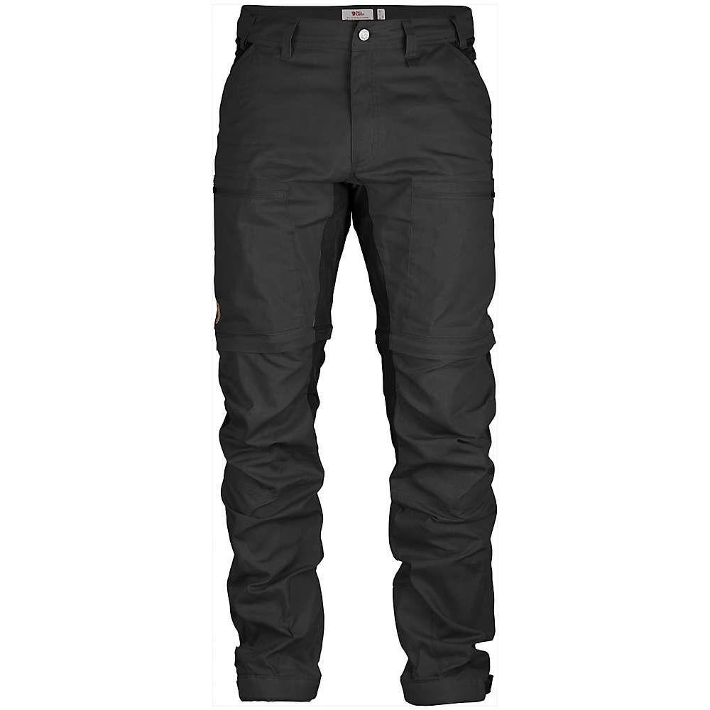フェールラーベン Fjallraven メンズ ハイキング・登山 ボトムス・パンツ【Abisko Lite Trekking Zip-Off Trouser】Dark Grey / Black