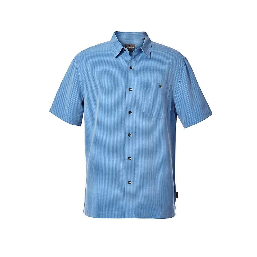 ロイヤルロビンズ Royal Robbins メンズ ハイキング・登山 トップス【Mojave Pucker Dry SS Shirt】Parisian Blue