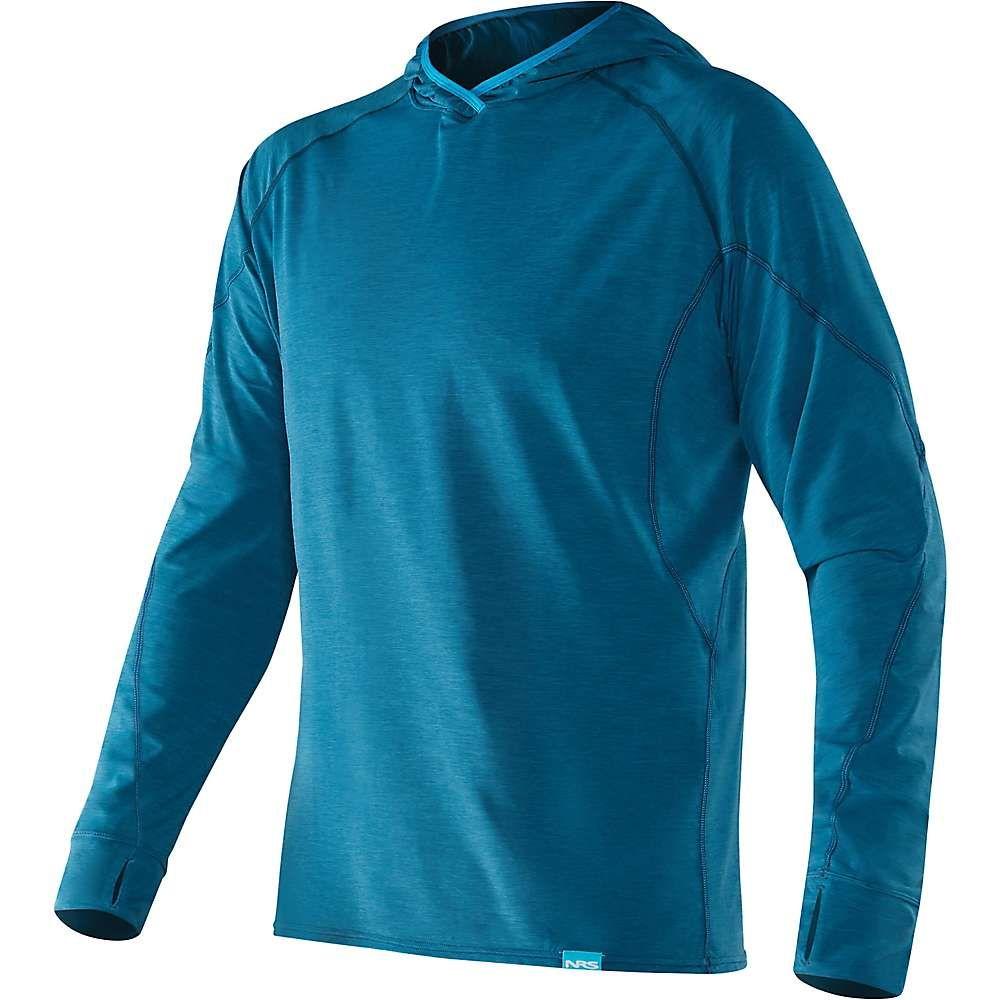 エヌアールエス NRS メンズ ハイキング・登山 トップス【H2Core Silkweight Hoodie】Moroccan Blue