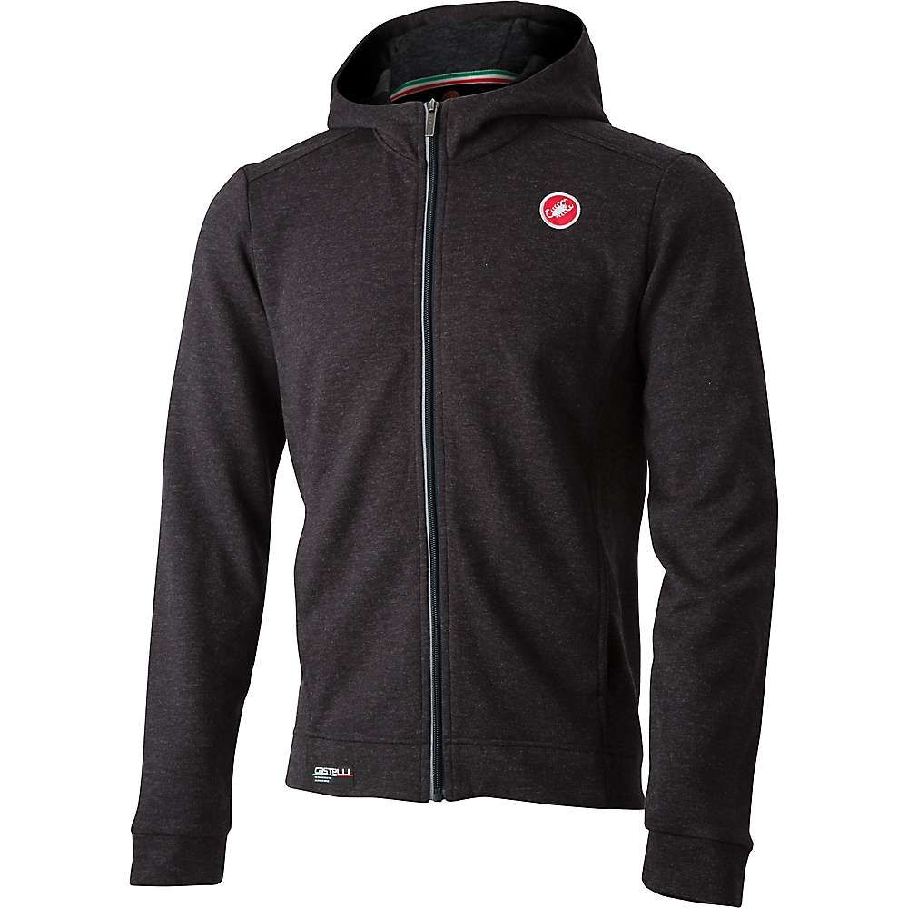 カステリ Castelli メンズ 自転車 アウター【Milano Full Zip Fleece Jacket】Melange Light Back