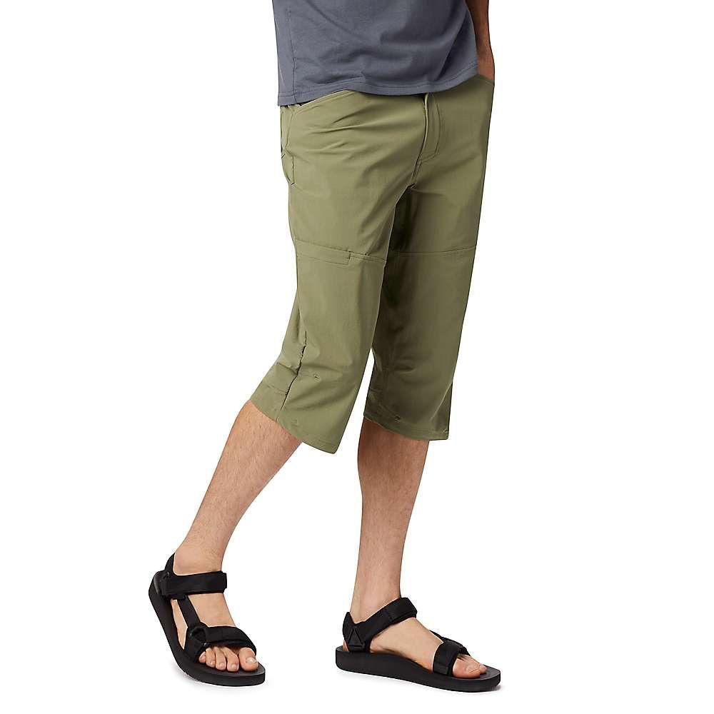 マウンテンハードウェア Mountain Hardwear メンズ ハイキング・登山 ボトムス・パンツ【Logan Canyon 3/4 Pant】Light Army