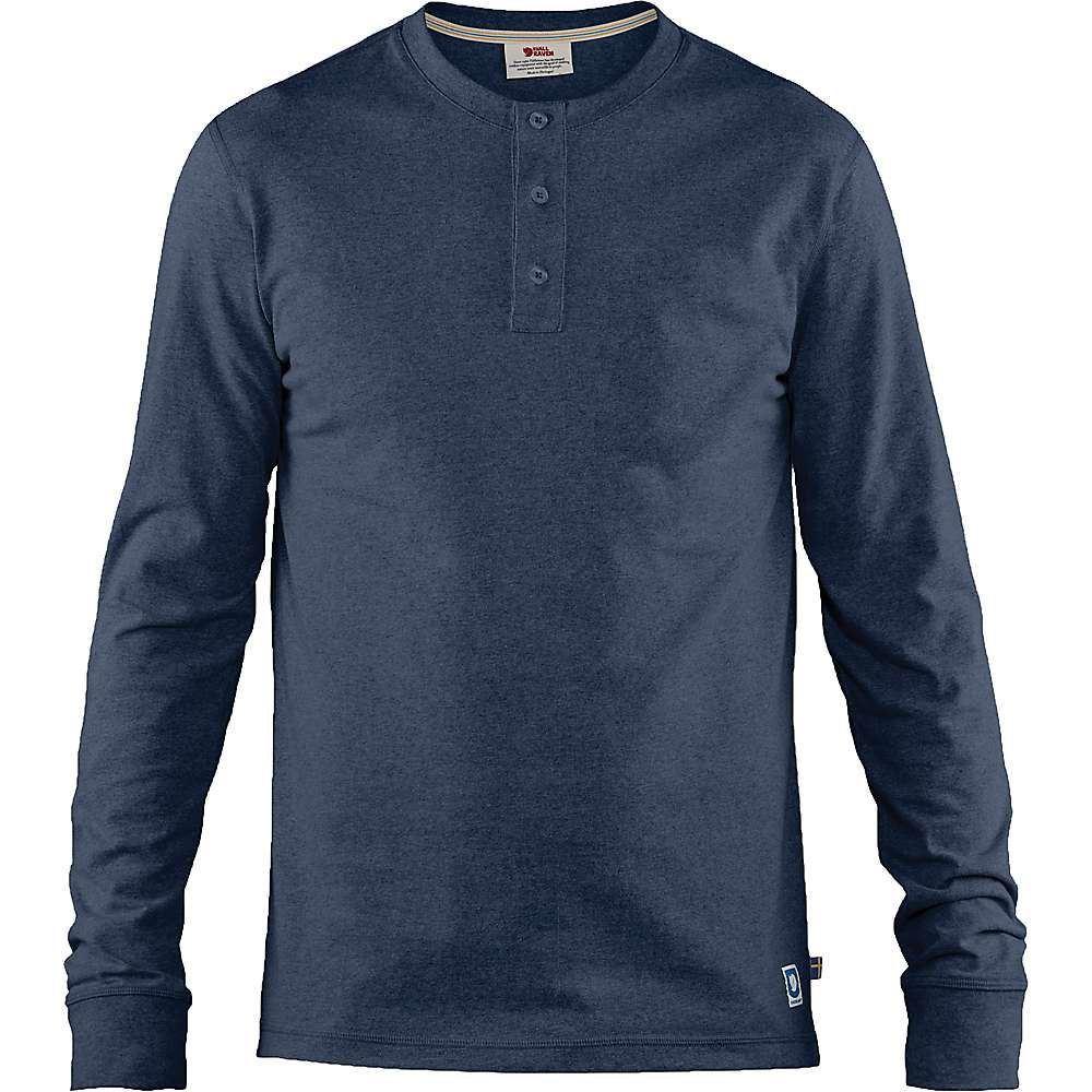 フェールラーベン Fjallraven メンズ ハイキング・登山 トップス【Greenland Re-Cotton Buttoned LS Shirt】Dark Navy