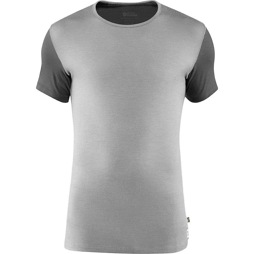 フェールラーベン Fjallraven メンズ ハイキング・登山 トップス【Wool T-Shirt】Light Grey-Grey