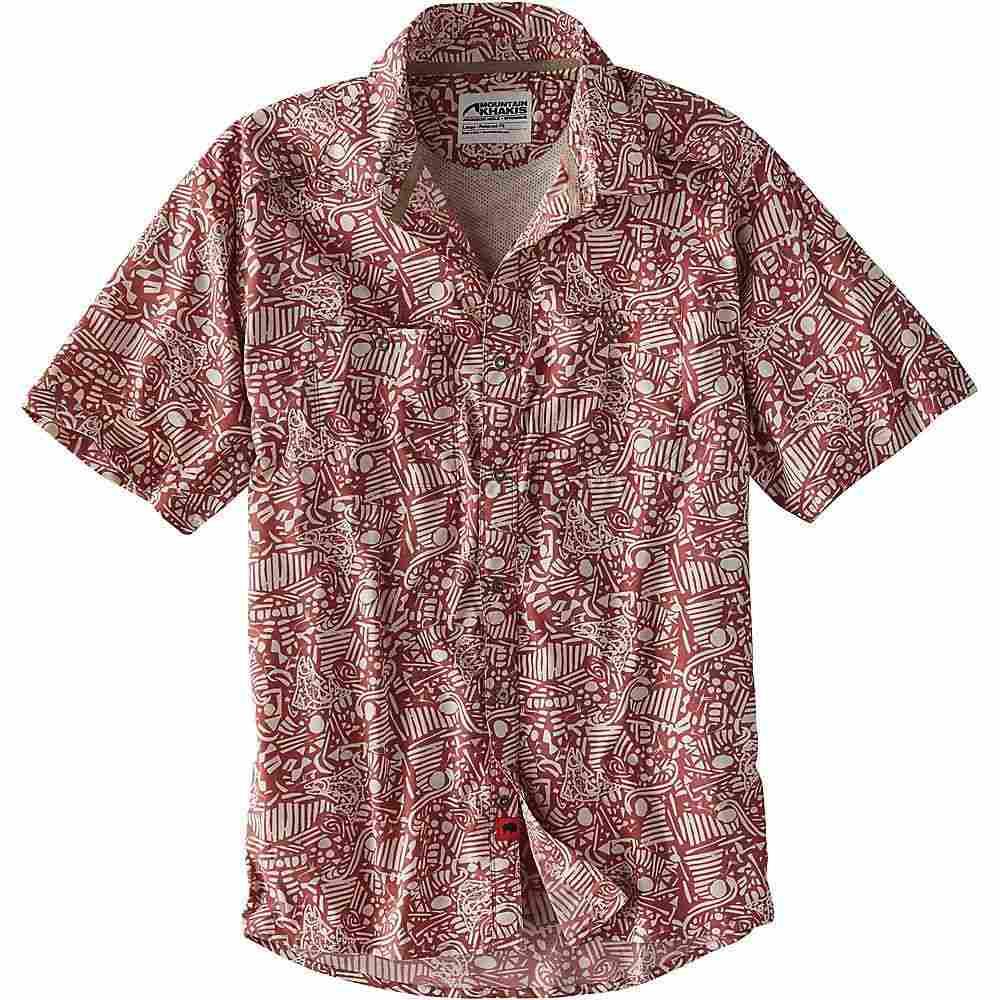 マウンテンカーキス Mountain Khakis メンズ ハイキング・登山 トップス【Inlet SS Shirt】Rojo