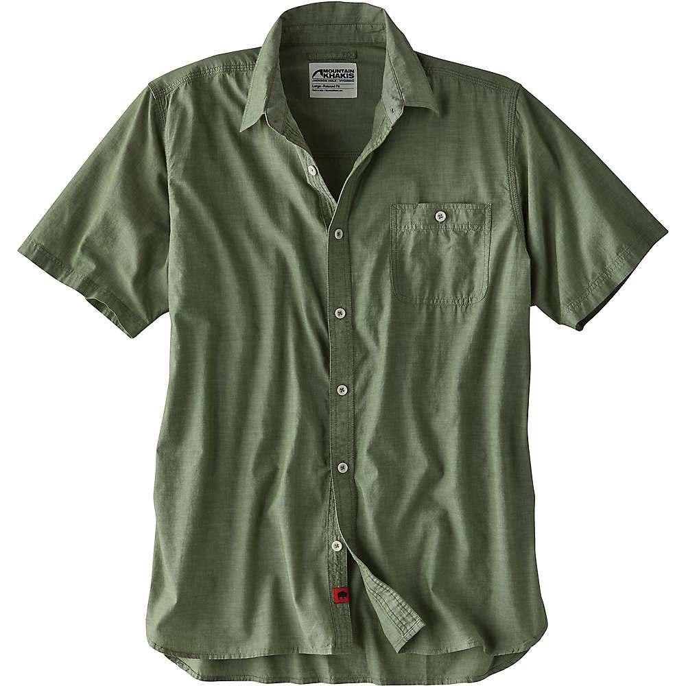 マウンテンカーキス Mountain Khakis メンズ ハイキング・登山 トップス【Mountain Chambray SS Shirt】Jungle