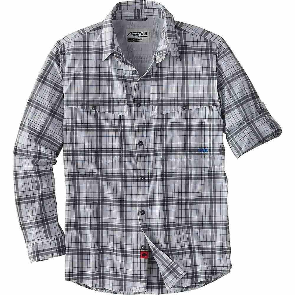 マウンテンカーキス Mountain Khakis メンズ ハイキング・登山 トップス【Skiff Shirt】Gunmetal Plaid
