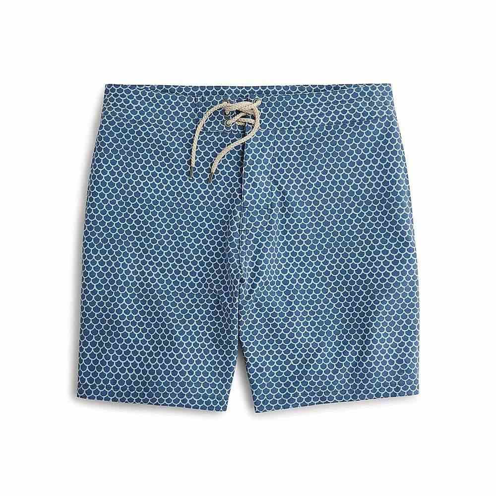 ファレティ Faherty メンズ 水着・ビーチウェア 海パン【7 inch Classic Boardshort】Fishscale Batik