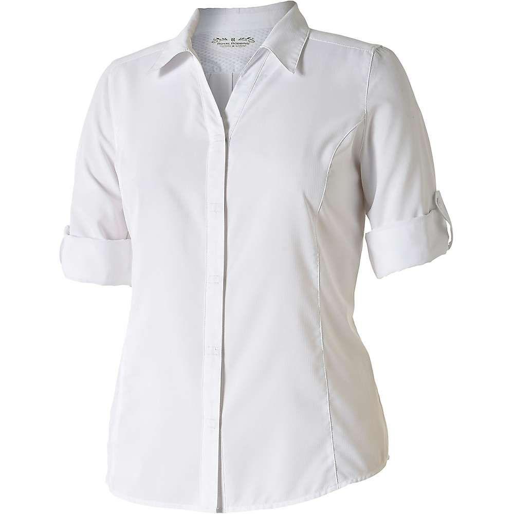 ロイヤルロビンズ Royal Robbins レディース ハイキング・登山 トップス【Expedition Chill Stretch 3/4 Sleeve Shirt】White