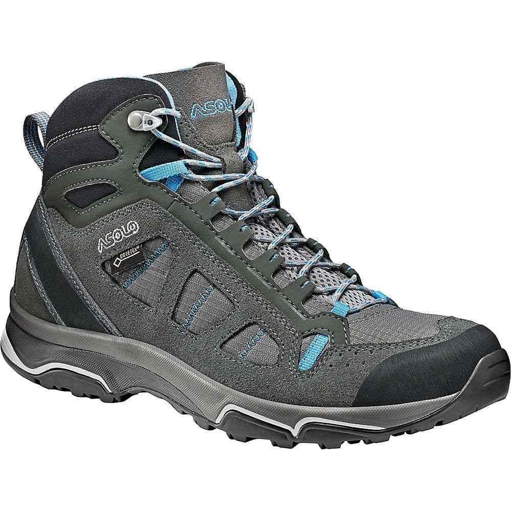 アゾロ Asolo レディース ハイキング・登山 シューズ・靴【Megaton Mid GV Shoe】Graphite Stone / Cyan Blue