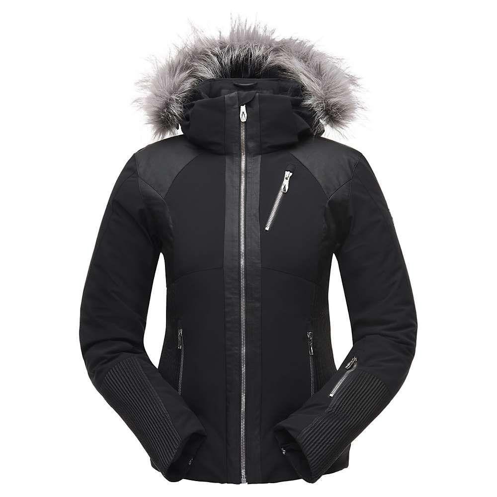 スパイダー Spyder レディース スキー・スノーボード アウター【Amour Faux Fur Jacket】Black / Black