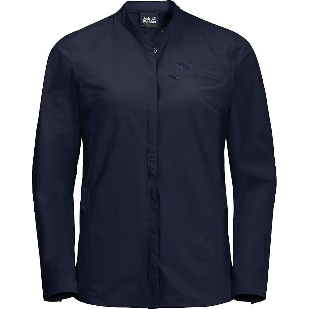 ジャックウルフスキン Jack Wolfskin レディース ハイキング・登山 トップス【Hilltop Trail Shirt】Midnight Blue