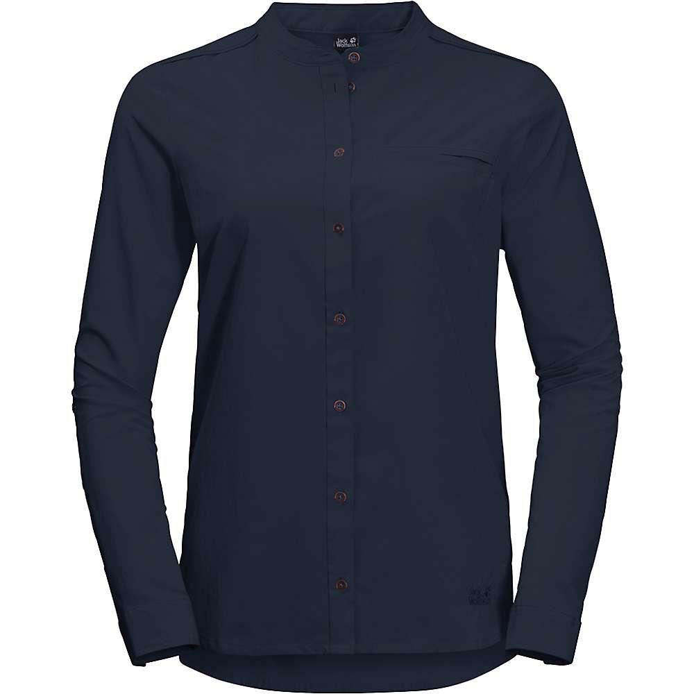 ジャックウルフスキン Jack Wolfskin レディース ハイキング・登山 トップス【Victoria Roll-Up Shirt】Midnight Blue