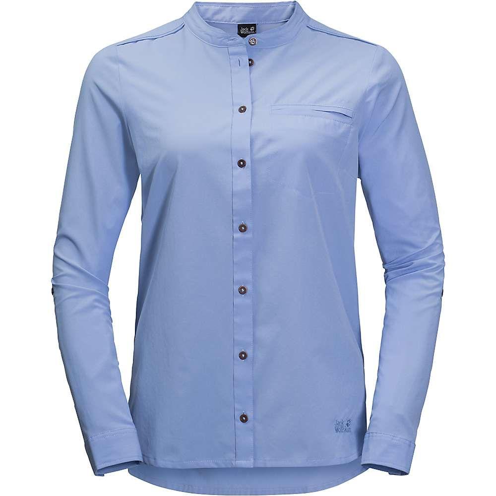 ジャックウルフスキン Jack Wolfskin レディース ハイキング・登山 トップス【Victoria Roll-Up Shirt】Shirt Blue