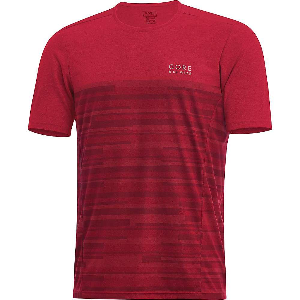 ゴア メンズ トップス 半袖シャツ【Gore Bike Wear Element Stripes Shirt】Black / Red
