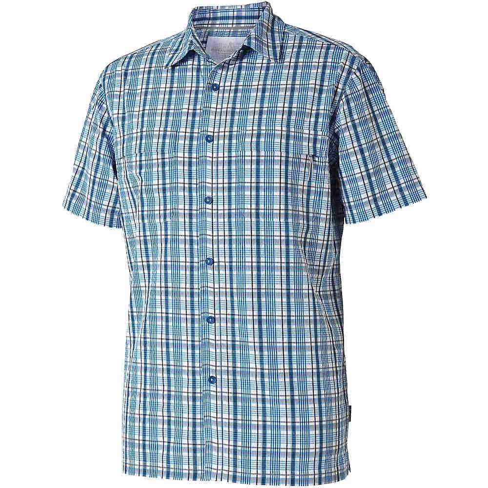 ロイヤルロビンズ メンズ トップス 半袖シャツ【Royal Robbins Diablo Plaid SS Shirt】Merlin Blue