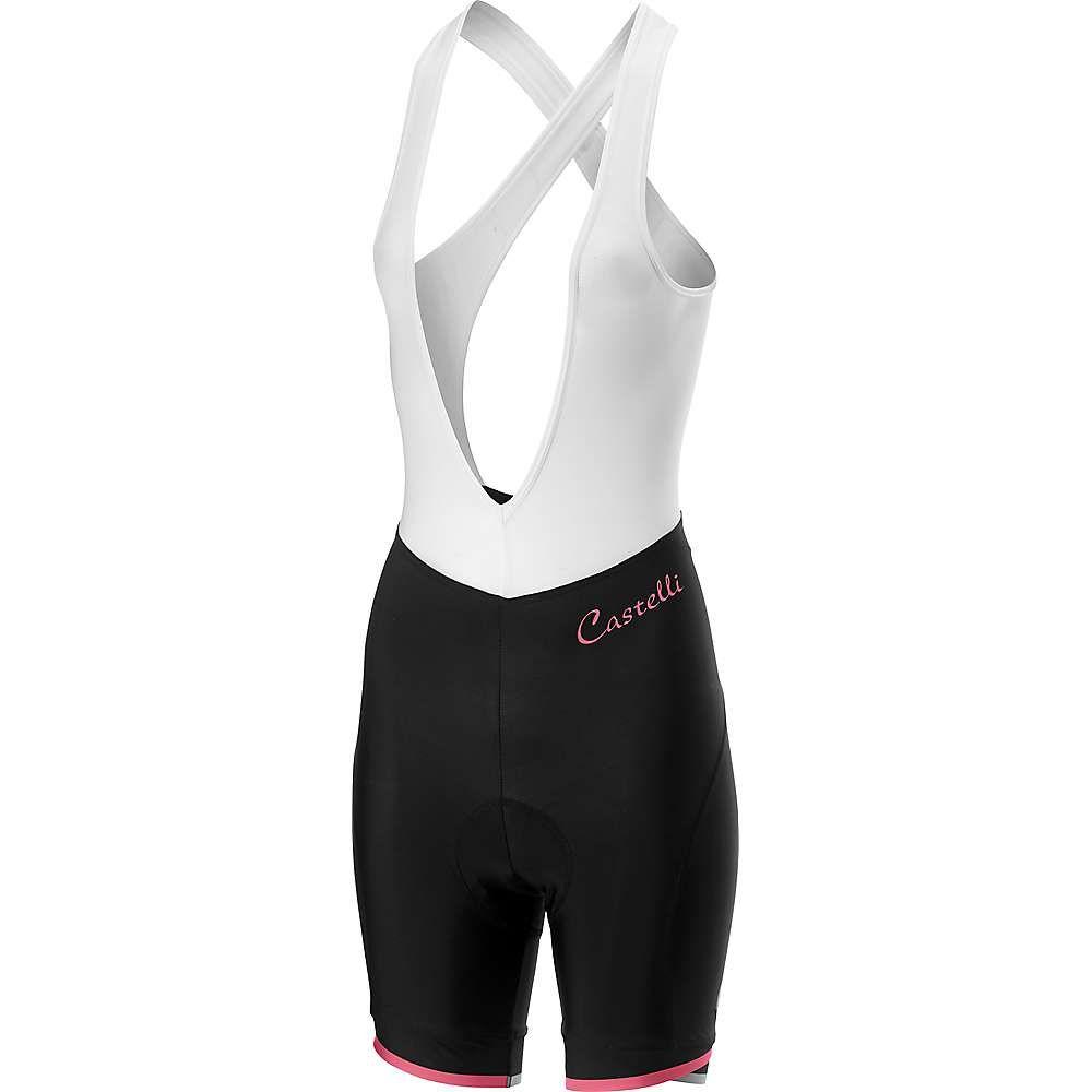 カステリ Castelli レディース 自転車 ボトムス・パンツ【Vista Bibshort】Black/Pink