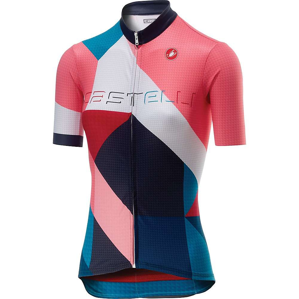 カステリ Castelli レディース 自転車 トップス【Ventata Full Zip Jersey】Multicolor Tourquoise Green